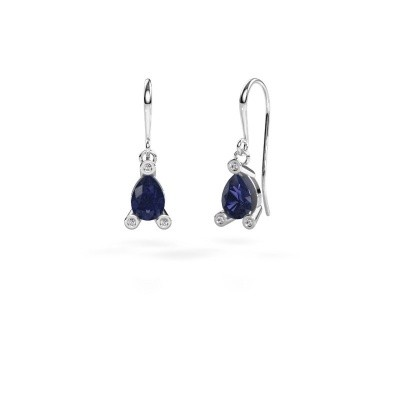 Drop earrings Bunny 1 950 platinum sapphire 7x5 mm