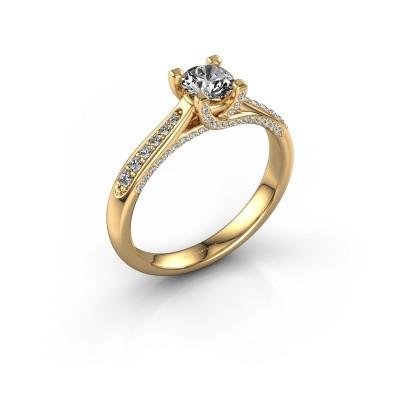 Verlovingsring Mia 3 375 goud diamant 0.648 crt