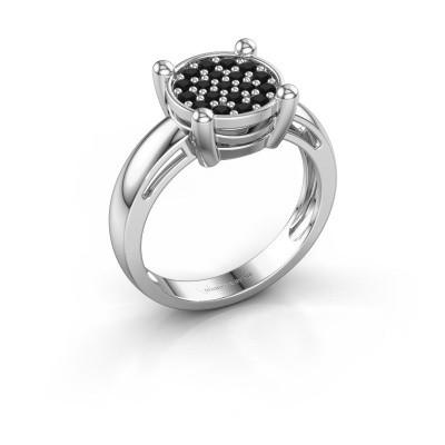 Ring Dina 925 Silber Schwarz Diamant 0.41 crt