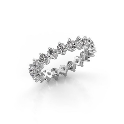 Picture of Stackable ring Janie 3.0mm 585 white gold diamond 2.00 crt