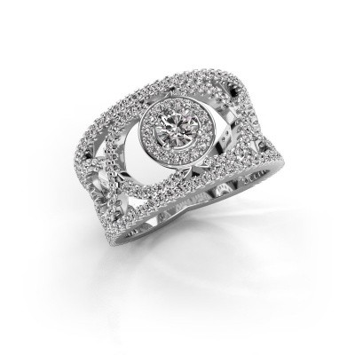 Foto van Ring Regina 585 witgoud zirkonia 4.2 mm
