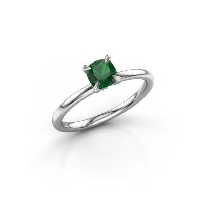 Foto van Verlovingsring Crystal CUS 1 925 zilver smaragd 5.5 mm