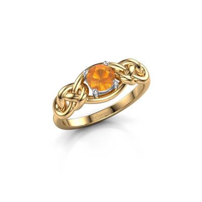 Foto van Ring Zoe 585 goud citrien 5 mm
