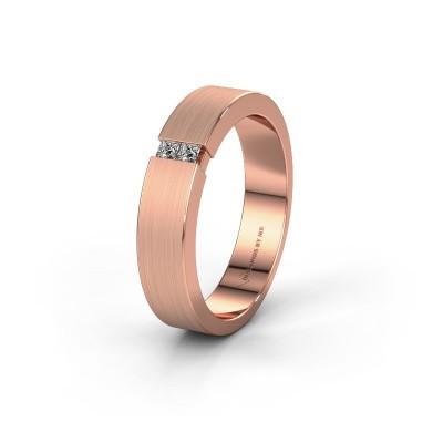 Trouwring WH2136M15E 375 rosé goud diamant ±5x2.4 mm