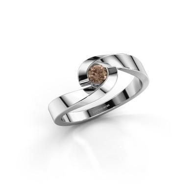 Foto van Verlovingsring Sheryl 585 witgoud bruine diamant 0.20 crt
