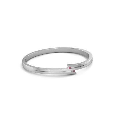 Armband Roxane 950 platina rhodoliet 2 mm