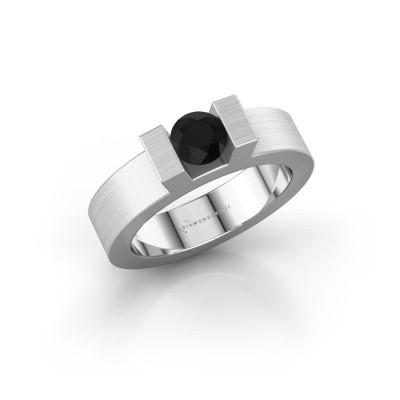 Foto van Ring Leena 1 950 platina zwarte diamant 0.60 crt