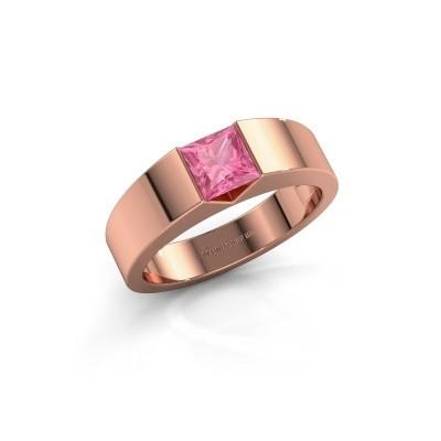 Foto van Verlovingsring Arlena 1 375 rosé goud roze saffier 4 mm