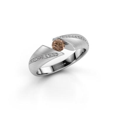 Foto van Ring Hojalien 2 925 zilver bruine diamant 0.37 crt