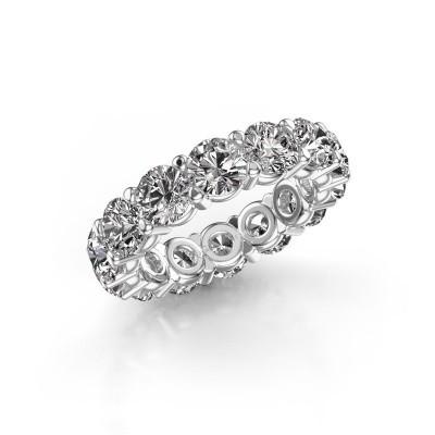 Foto van Ring Heddy rnd 5.0 585 witgoud diamant 7.00 crt