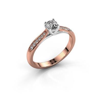 Verlobungsring{ucf Mia 2 585 Roségold Diamant 0.25 crt