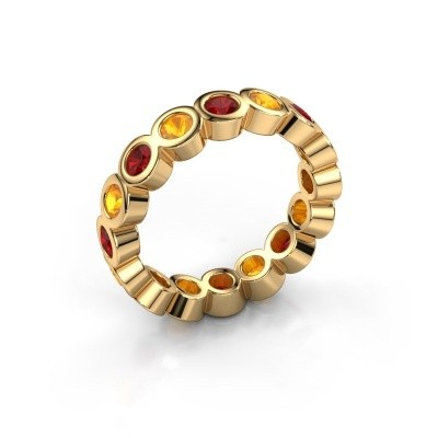 Stackable ring Edwina 3 375 gold ruby 3 mm