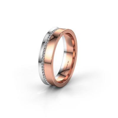 Foto van Trouwring WH6090L55A 585 rosé goud diamant ±5x1.7 mm