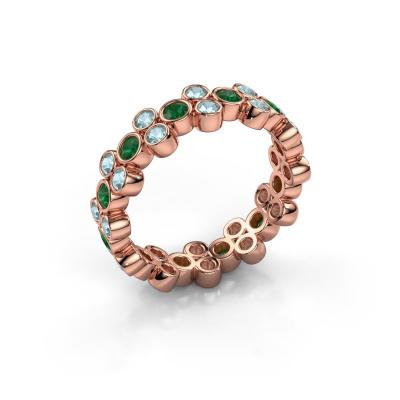 Ring Victoria 585 Roségold Smaragd 2.4 mm