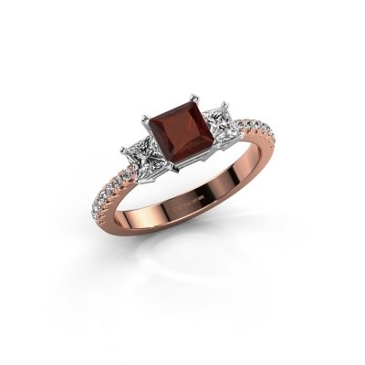 Engagement ring Dorla 585 rose gold garnet 5 mm