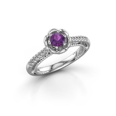 Picture of Engagement ring Abbey 925 silver amethyst 4.2 mm