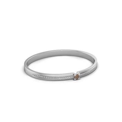 Bracelet Myrthe 585 white gold brown diamond 0.742 crt