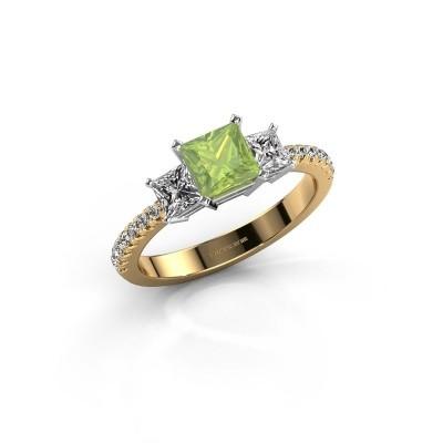 Engagement ring Dorla 585 gold peridot 5 mm