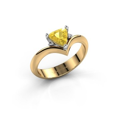 Ring Arlette 585 goud gele saffier 7 mm