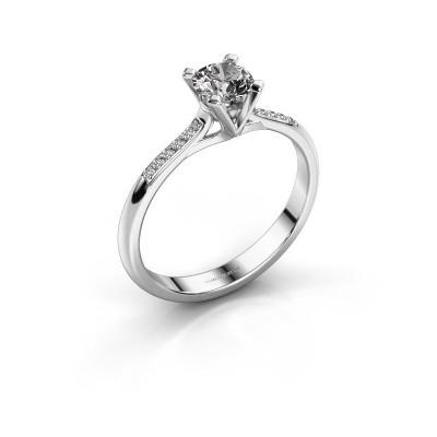 Foto van Aanzoeksring Isa 2 585 witgoud diamant 0.50 crt