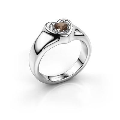 Foto van Ring Maja 925 zilver rookkwarts 4 mm