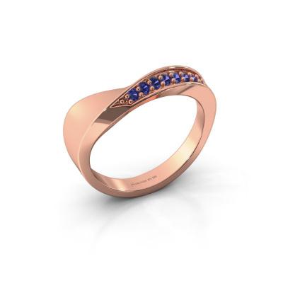 Ring Lynn 585 rosé goud saffier 1.6 mm