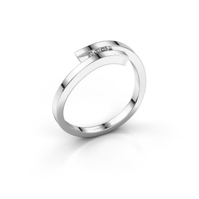 Ring Juliette 925 silver zirconia 1.6 mm