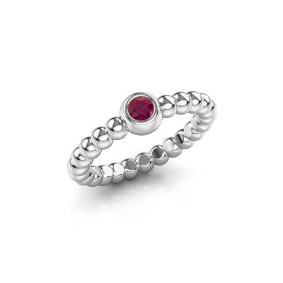 Bague superposable Dini 585 or blanc rhodolite 3 mm