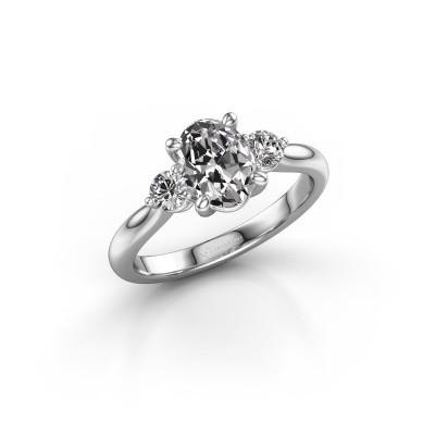 Foto van Verlovingsring Lieselot OVL 925 zilver diamant 1.19 crt