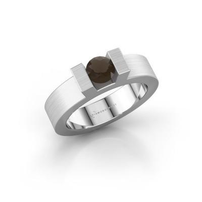 Foto van Ring Leena 1 925 zilver rookkwarts 4.2 mm