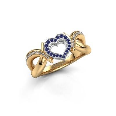 Ring Earlie 2 585 goud saffier 1.1 mm