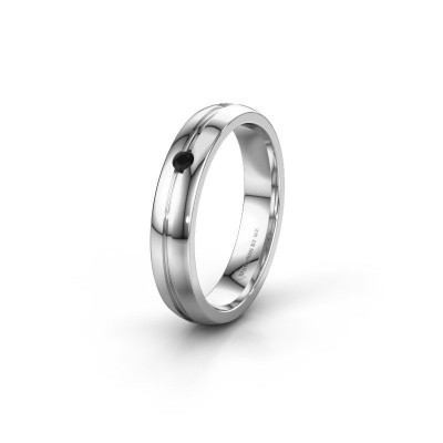 Ehering WH0424L24A 950 Platin Schwarz Diamant ±4x1.7 mm