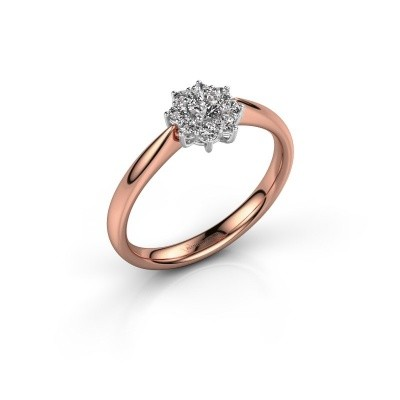 Foto van Verlovingsring Carolyn 1 585 rosé goud lab-grown diamant 0.10 crt