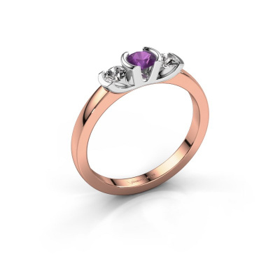 Ring Lucia 585 rose gold amethyst 3.7 mm