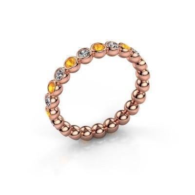 Foto van Aanschuifring Maurise 375 rosé goud diamant 0.330 crt