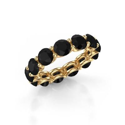 Foto van Ring Kirsten 5.0 375 goud zwarte diamant 7.80 crt