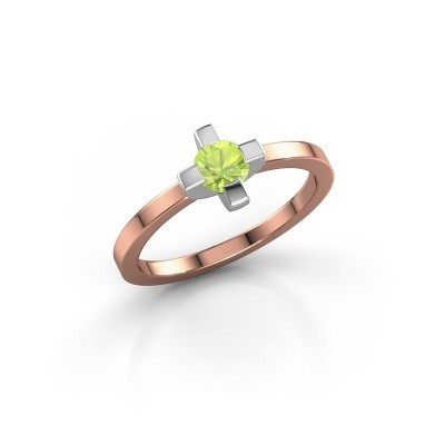 Ring Therese 585 rosé goud peridoot 4.2 mm
