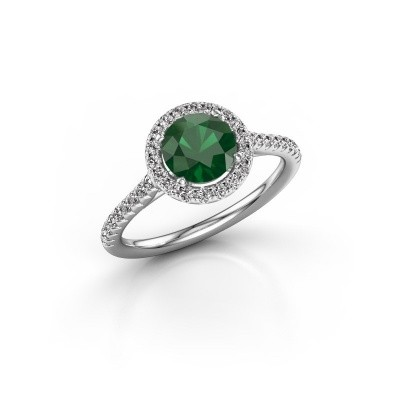 Picture of Engagement ring Seline rnd 2 950 platinum emerald 6.5 mm