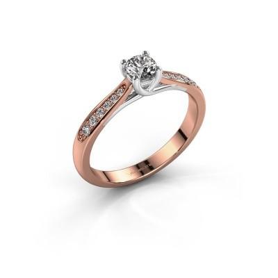 Foto van Verlovingsring Mia 2 585 rosé goud lab-grown diamant 0.30 crt