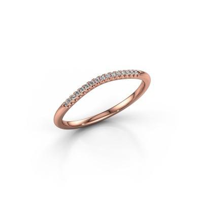Aanschuifring SR10A2H 375 rosé goud diamant 0.08 crt