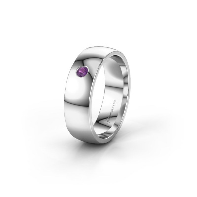 Picture of Wedding ring WH0101L26AP 585 white gold amethyst ±6x1.4 mm