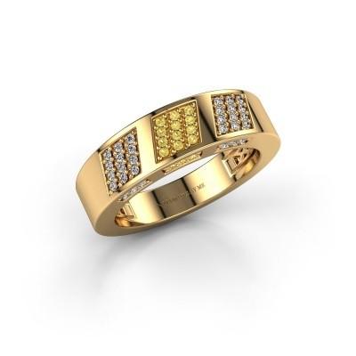 Ring Jessika 375 gold yellow sapphire 1.1 mm