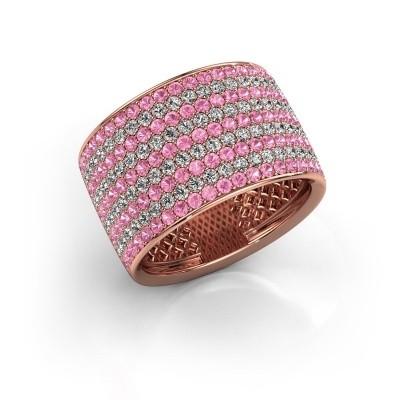 Foto van Ring Macy 375 rosé goud roze saffier 1.4 mm