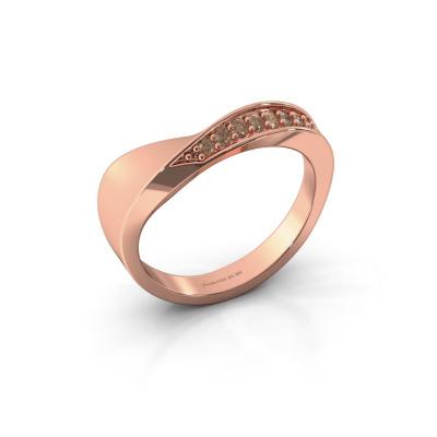 Ring Lynn 585 rosé goud bruine diamant 0.216 crt