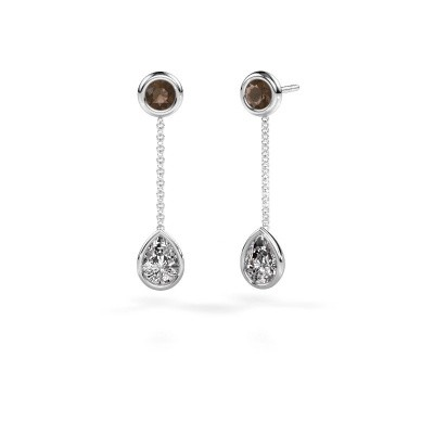 Picture of Drop earrings Ladawn 950 platinum lab-grown diamond 0.65 crt