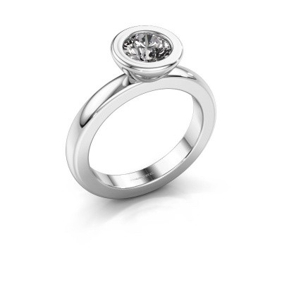 Picture of Stacking ring Eloise Round 585 white gold lab created 0.80 crt