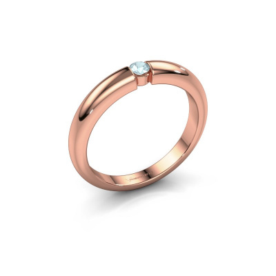 Picture of Engagement ring Amelia 585 rose gold aquamarine 3 mm