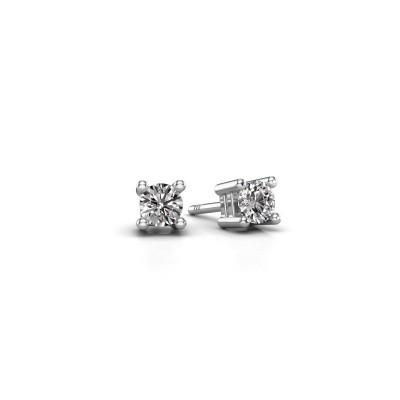 Foto van Oorknopjes Eline 950 platina diamant 0.25 crt