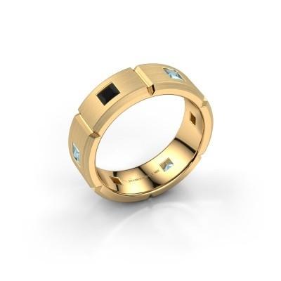 Foto van Heren ring Steve 585 goud zwarte diamant 1.122 crt