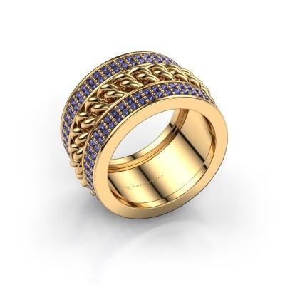Bild von Ring Jayda 375 Gold Saphir 1.2 mm
